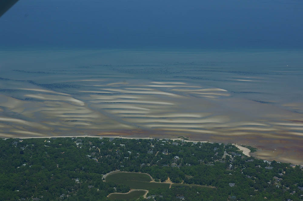 Tidal flats in Barnstable Harbor, Cape Cod, MA
